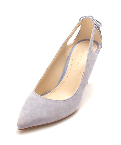 Marc Fisher Womens teagin Leather Pointed Toe Classic Pumps Light Blue Suede HqIZNS72
