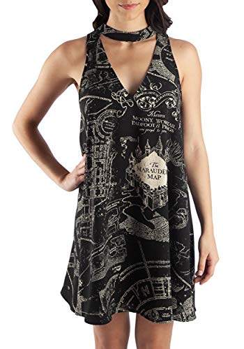 Harry Potter Dress - Bioworld Harry Potter Marauders Map Sleeveless
