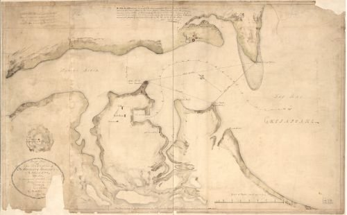 1814 Map Rough plan of the defences of the harbour of Annapolis in Maryland - Size: 16x24 - Ready - Annapolis Shopping In Maryland