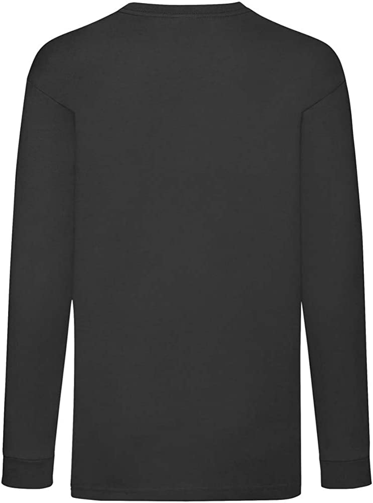 Fruit Of The Loom Childrens//Kids Unisex Valueweight Long Sleeve T-Shirt