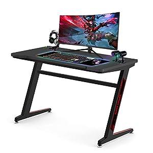 Huracan Bureau Gamer Ergonomique Bureau Gaming Table de Jeu pour PC Gaming en Fibre de Carbone Bureau Informatique…