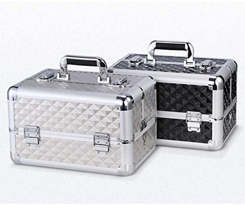 JSY プラスチック製ポータブルハードウェア家庭用電気技師多機能メンテナンスカーボックスストレージボックス三層アルミツールボックス ツールボックス (Color : A)