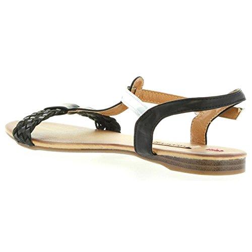 MARIA MARE Sandalias de Mujer 65855 Trenza Negro