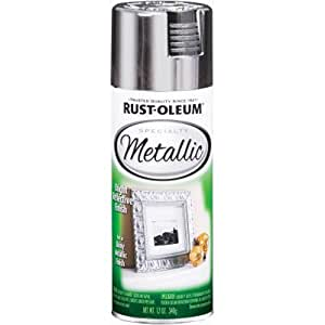 Rust-Oleum 1915830 Metallic Spray, Silver, 11-Ounce