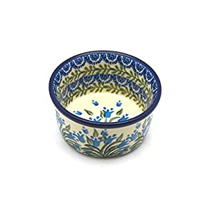 Polish Pottery Ramekin – Blue Bells