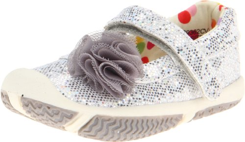 Morgan & Milo Sparkle Mary Jane (Toddler/Little Kid) (Toddler),Silver,6 M US ()