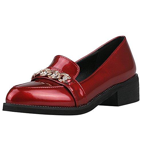 Latasa Damesschoen Met Overslag En Loafers Schoenen Rood