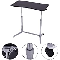 Height Adjustable Computer Desk Laptop Table Rolling Sit-Stand Notebook Table