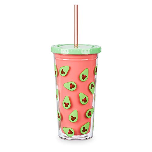 Disney Mickey and Minnie Mouse Avocado Tumbler with Straw -