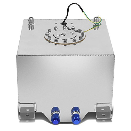 DNAMotoring ALU-FT-T2-ALU Aluminum 5-Gallon Fuel Cell Gas (Aluminum Gas Tank)