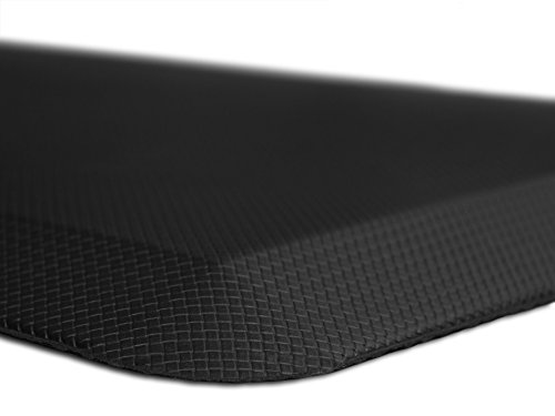Anti Fatigue Comfort Floor Mat By Sky Mats - Commercial Grade Quality Perfect for Standup Desks, Kitchens, and Garages - Relieves Foot, Knee, and Back Pain - Free Lifetime Warranty - (20x39 In, Midnight Black)