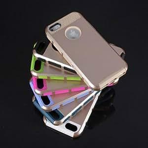 Gold Shockproof Dirt Dust Proof Hard Matte Case For iPhone 5 5s --- Color:Purple