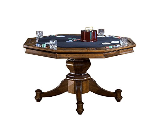 Hillsdale  Game Table, Brown - Oak Folding Poker Table