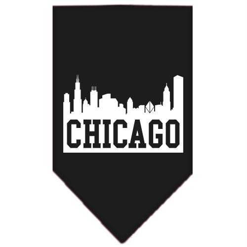 (Mirage Pet Products Chicago Skyline Screen Print Bandana, Large, Black)