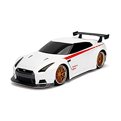 Hyperchargers 2.4Ghz Radio Remote Control Car 1/16 JDM Tuners 2009 Nissan Gt-R (R35) R/C RTR (White): Toys & Games
