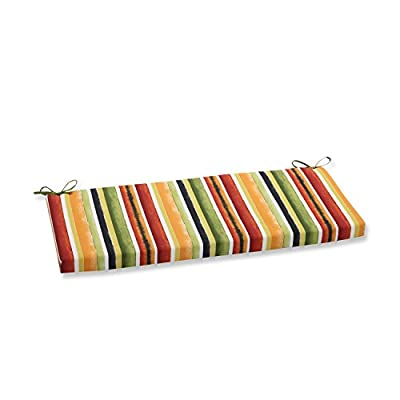 Pillow Perfect Outdoor/Indoor Dina Noir Bench Cushion: Home & Kitchen