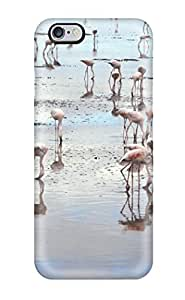 Hot XhMXnMo11439KXdXL Flamingos On Beach Pink Beautiful Amboseli National Park Kenya Animal Bird Tpu Case Cover Compatible With Iphone 6 Plus