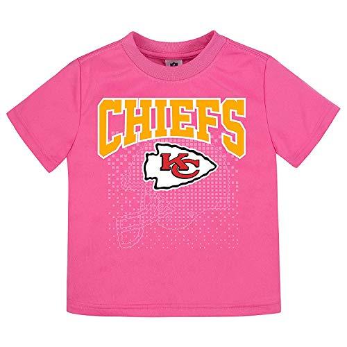 Gerber Childrenswear NFL Kansas City Chiefs Girls 2018Short Sleeve Team Logo Tee, Pink, 4T by Gerber Childrenswear