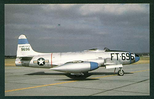 Lockheed F-80 Shooting Star First USAF Jet Combat Interceptor Korean War Aircraft Postcard ()