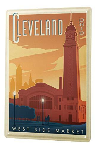 Tin Sign Wanderlust City Cleveland Ohio -
