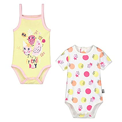 Petit Béguin - Lot de 2 bodies manches courtes et débardeur bébé fille Mini  Party - 47385f2bff0