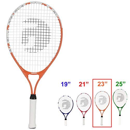 Gamma Sports Junior Tennis Racquet: Quick Kids 23 Inch Tennis Racket – Prestrung Youth Tennis Racquets for Boys and Girls – 93 Inch Head Size – Orange