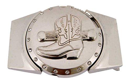 Lighters Belt Buckle Costume Halloween Cowboy Texas Vaquero Boot Silver Metal for $<!--$10.49-->