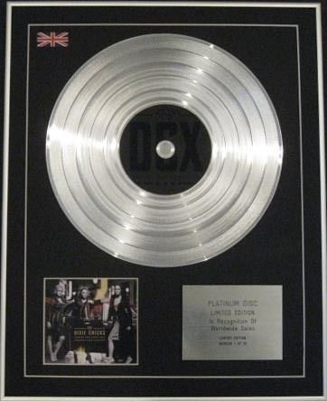 DIXIE CHICKS - Limited Edition CD Platinum Disc - TAKING THE LONG WAY (Taking The Long Way Home Dixie Chicks)