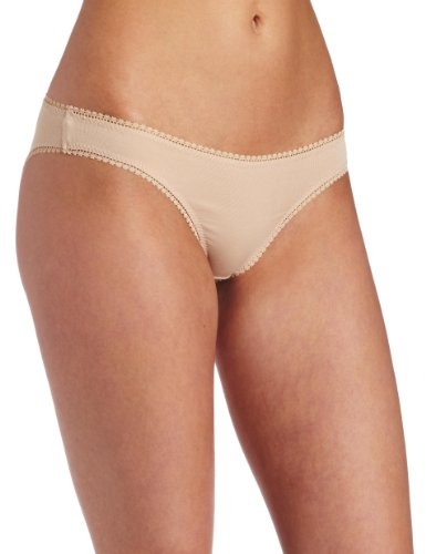 (On Gossamer Women's Cabana Cotton Low -Rise Bikini Panty, Champagne, Small)