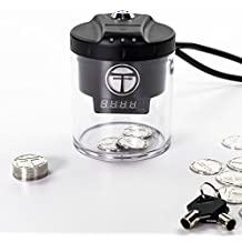 Token Timer Pro - Easily Limit Time of TV, Internet, Video Games and Mobile. Durable and tamper proof, includes metal tokens, countdown screen and adjustable time value of tokens (1min up to 24hrs!).