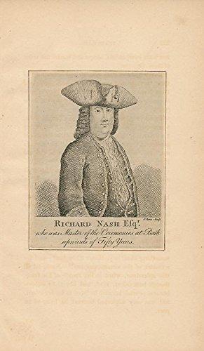 Richard Nash Esq. of Bath scarce 1800 old vintage Portrait -