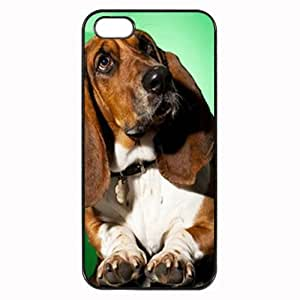 Custom BASSET HOUND DOG COVER CASE FOR IPHONE 4 PHONE