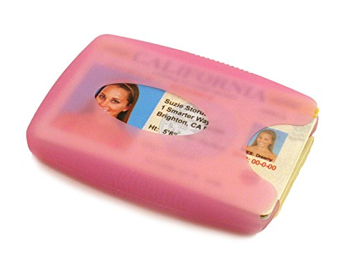 Storus Jelly Wallet-Soft and Flexible Silicone Wallet That Holds Money, Cards, IDs-Holds Up to 10 Cards and 10 Bills!-Translucent Hot Pink Color-Measures 3.5