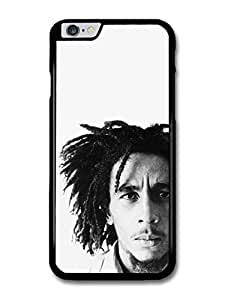 "AMAF ? Accessories Bob Marley Black & White Rasta Portrait Reggae case for iPhone 6 Plus (5.5"")"