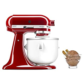 KitchenAid KICA0WH Ice Cream Maker Attachment - Excludes 7, 8, and most 6 Quart Models (B0002IES80) | Amazon price tracker / tracking, Amazon price history charts, Amazon price watches, Amazon price drop alerts