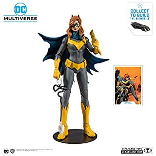 McFarlane Toys DC Multiverse Batgirl: Art of The Crime Action Figure with Build-A Rebirth Batmobile (Piece 1)
