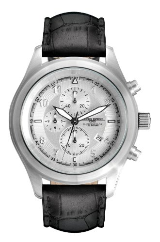 Jorg Gray JG4510 Men's Quartz Silver Dial Leather Strap Watch