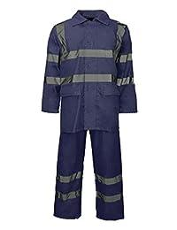 Hi Viz Waterproof Rainsuit Set High Vis Visibility Jacket & Trouser