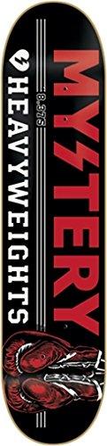 Mystery Heavy Weights Black Skateboard Deck - 8.37