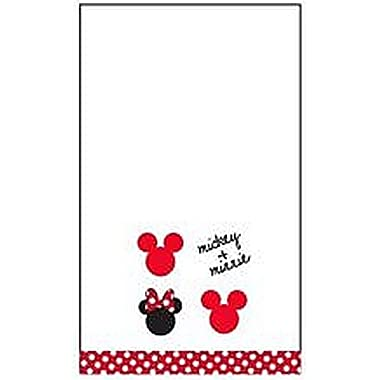 Disney Mickey and Minnie 11  X  16.5 100% Cotton Embroidered Hand Towel