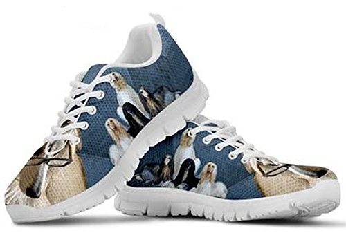 Print Men's Casual 10 Afghan Sneakers Cute Brand Dog Hound wZAOx4q