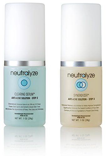 Neutralyze Moderate To Severe Acne Clearing Serum & Synergyzer (30 Day) - Maximum Strength 2-Step Anti Acne Medication With Salicylic Acid + Mandelic Acid + Nitrogen Boost Skincare Technology ()