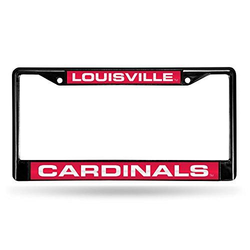 Cardinals Red Laser - Louisville Cardinals Laser Black License Plate Frame