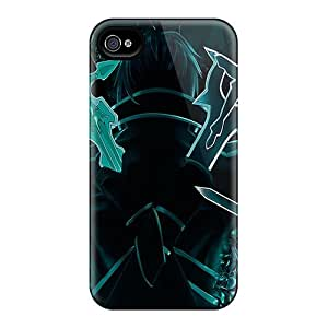 ErleneRobinson Apple Iphone 4/4s Protective Hard Cell-phone Cases Support Personal Customs Colorful Sword Art Online Kirito Series [ObD7721HqZy]
