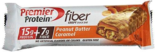 Premier Nutrition Protein fibre Bars Crisp, Caramel au beurre d'arachide, 1,83 oz (6 bars pack)