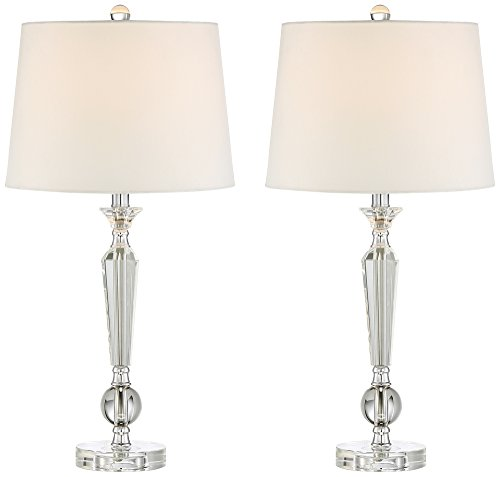 Jolie Tapered Candlestick Crystal Table Lamp Set of 2 (Shades Lamp Candlestick)