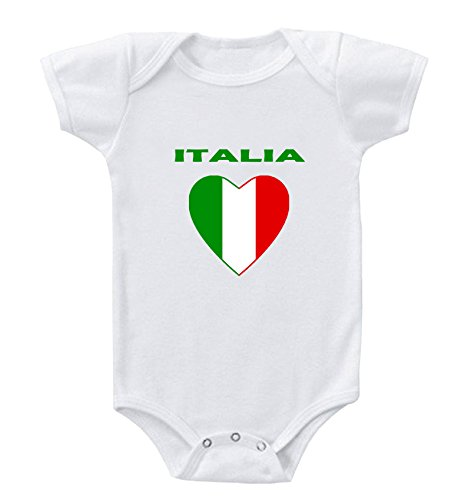 Heart Love Italia Italy Infant Toddler Baby Bodysuit One Piece - Italia Pro Apparel
