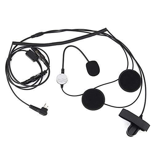 Motorcycle Helmet Headset, Two Way Radio Earpiece Mic Earphone with Finger PTT Button for Motorola Portable Radio Walkie…