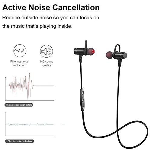 bluetooth headphones ansion wireless bluetooth 4 1 sport headset ipx5 sweat proof stereo. Black Bedroom Furniture Sets. Home Design Ideas