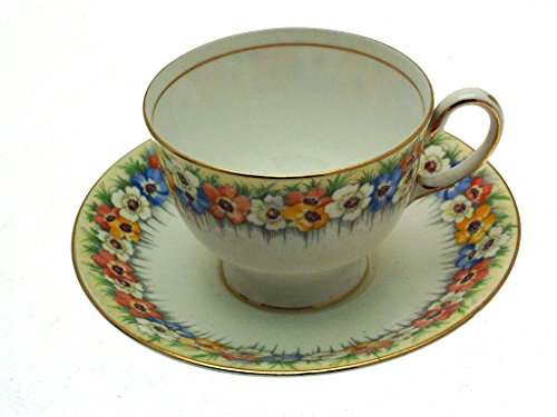 Aynsley Anenome B4850 Cup and Saucer